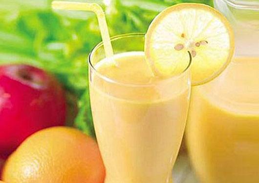 Citrus smoothie of lemon and orange