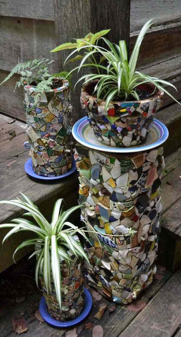 And flower pot mosaics too!