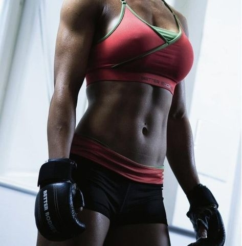 Boxing is not only effective in slimming down your arms and thighs, but in keeping your stomach flatter as well.
