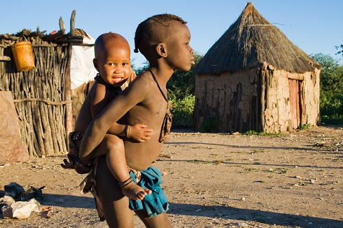 Brothers from Himba tribe