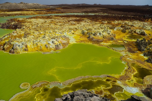 Dallol - green acid lake