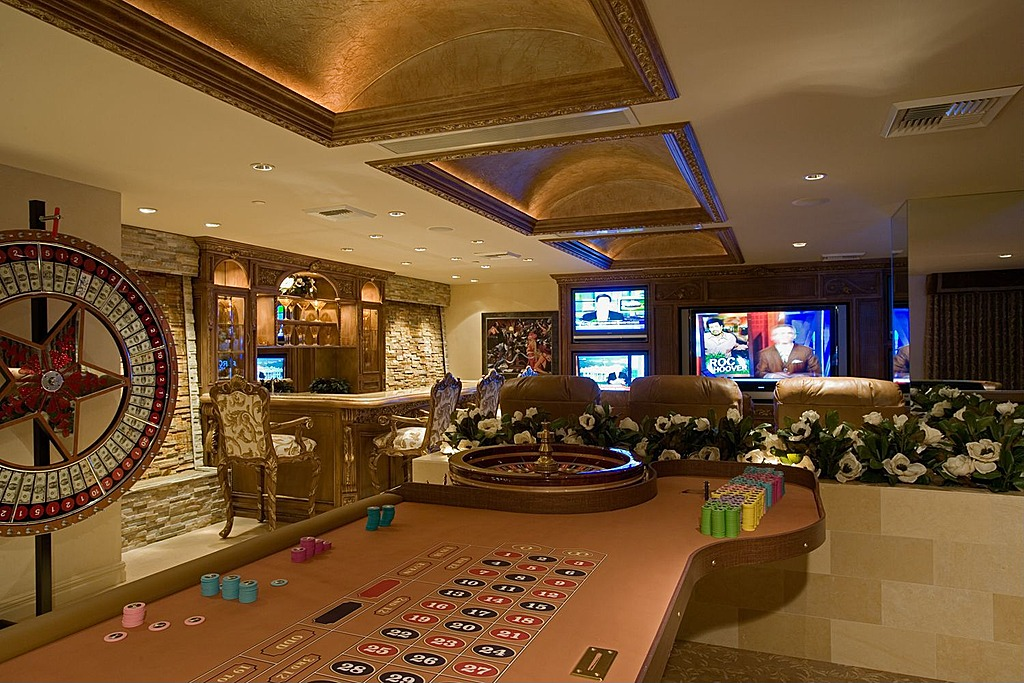 Gambling, a bar, theater seating and five televisions. It doesn't get much better than this