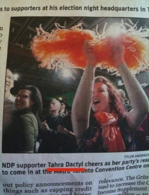 "Any parent who names their kid ""Tahra Dactyl."