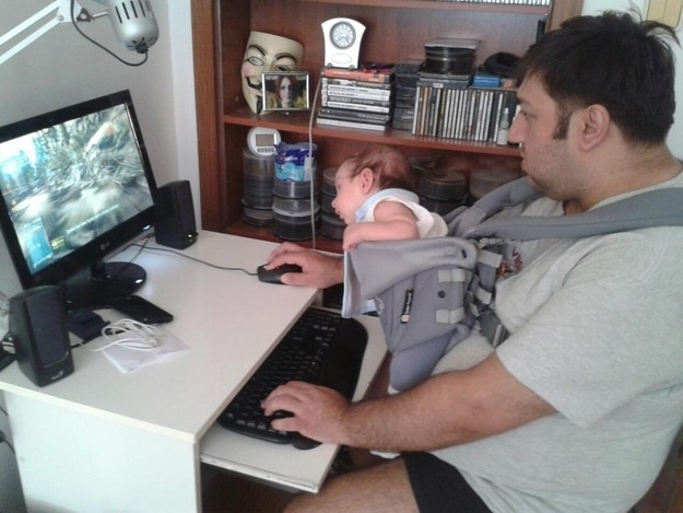 This dad who introduced his son to his hobbies.