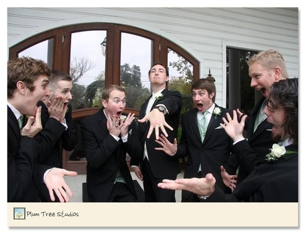 Some very goofy photos of the groomsmen.