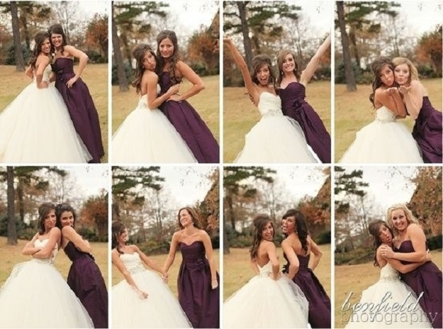Silly poses with each of your bridesmaids.