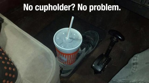 No cupholder? No problem.