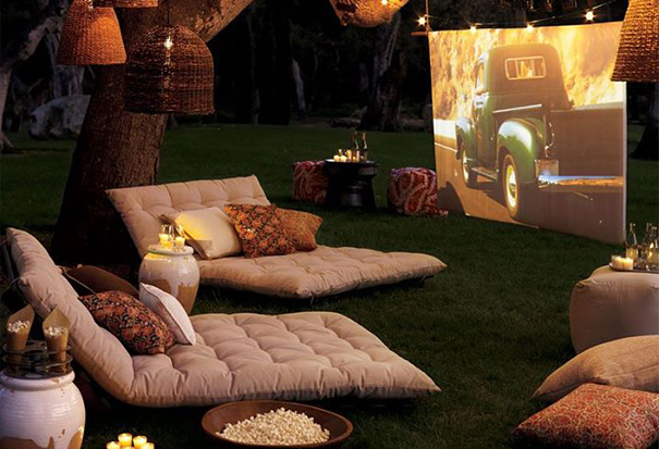 Romantic Backyard Cinema