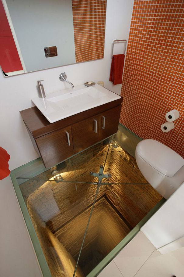 Glass Floor and Open Shaft Below