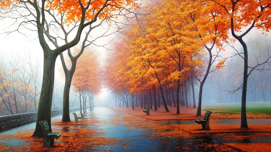Hazy, Orange Pathway