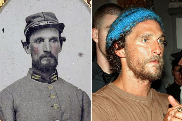 Another Civil War soldier, and this one looks just like Matthew McConaughey