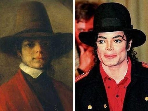 This man in this portrait resembles Michael Jackson in almost every single way