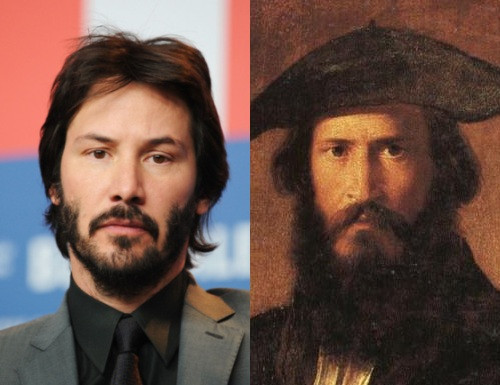 Keanu Reeves and Paul Mounet share some uncanny resemblances. Read more at http://emgn.com/entertainment/20-celebrities-who-have-twins-from-history-could-it-just-be-a-coincidence/#AfbAxXFiI1pJPY5x.99