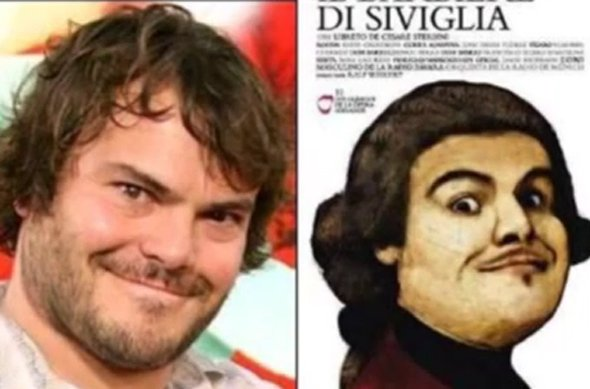Jack Black and the Barber of Seville.