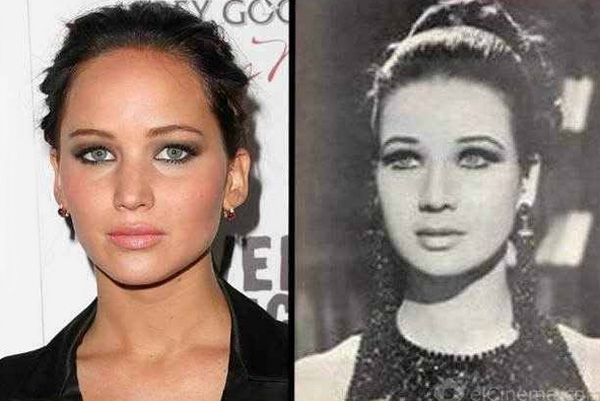 Jennifer Lawrence and Zubaida Tharwat.