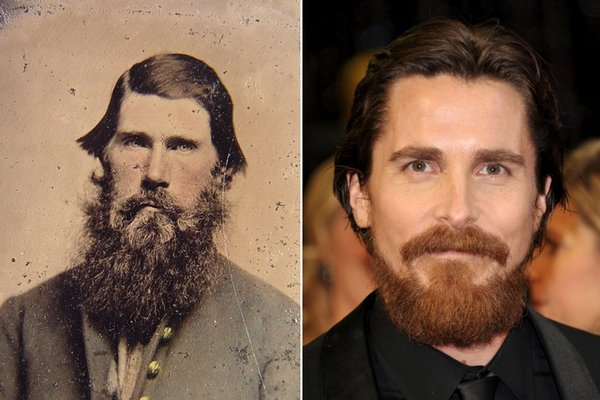 Civil War solder and Christian Bale.