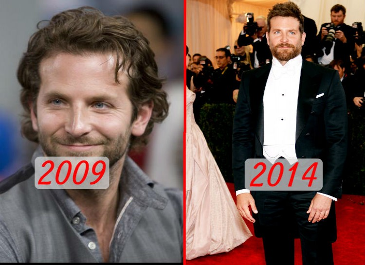 "Cooper shot to stardom in 2009 after the release of ""The Hangover."" His usually slim frame changed notably in 2014 as he bulked up for his movie ""American Sniper."""