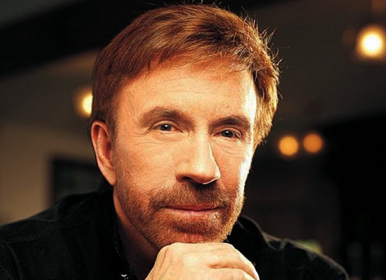 Another age-defying septuagenarian, Chuck Norris is also 74.