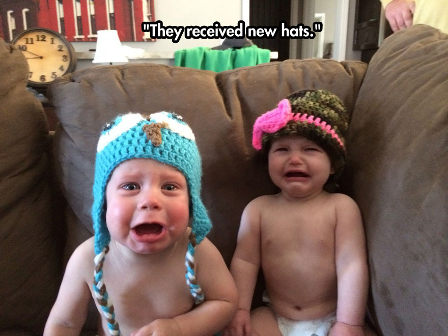 They received new hats.