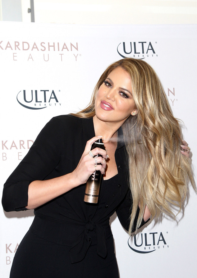 WEST HILLS, CA - APRIL 02: TV personality Khloe Kardashian appears at ULTA Beauty's West Hills store to promote Kardashian Beauty Hair Care and styling line held at ULTA Beauty on April 2, 2015 in West Hills, California. (Photo by Tommaso Boddi/WireImage)