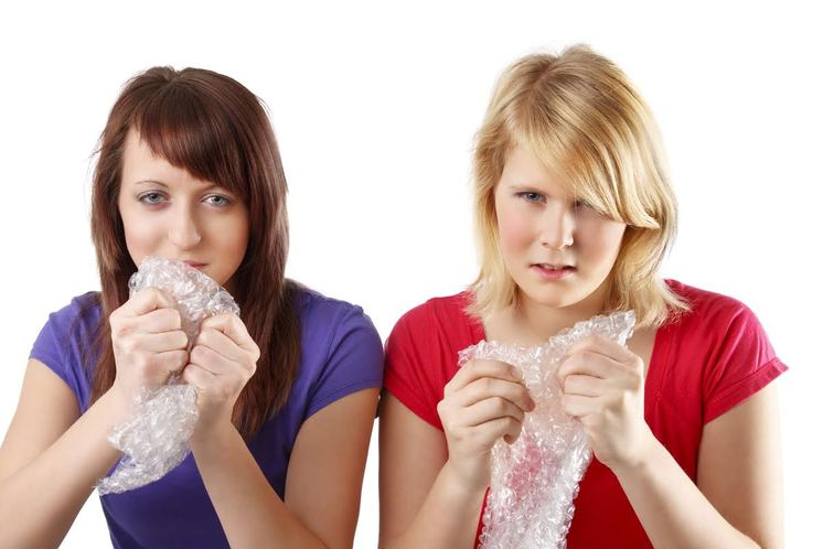 Popping bubble wrap