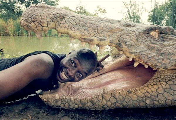 Batch 3- Extreme Selfies Taken By Everyday Individuals- At the Mouth of a Gator