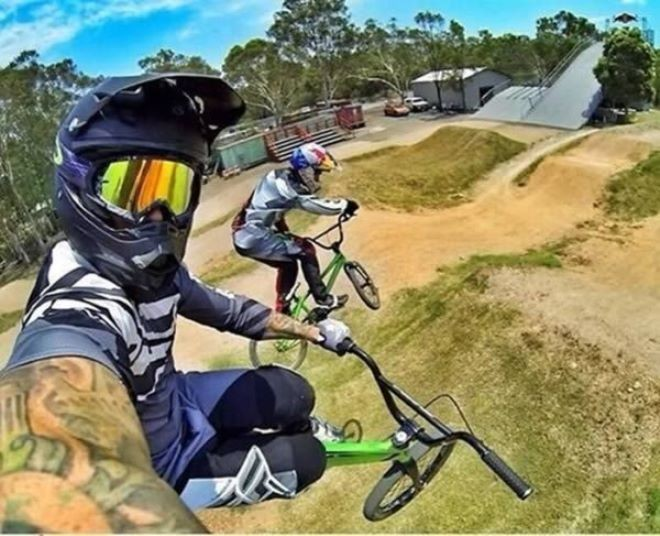 Batch 3- Extreme Selfies Taken By Everyday Individuals- Bike Riding in Mid-Air