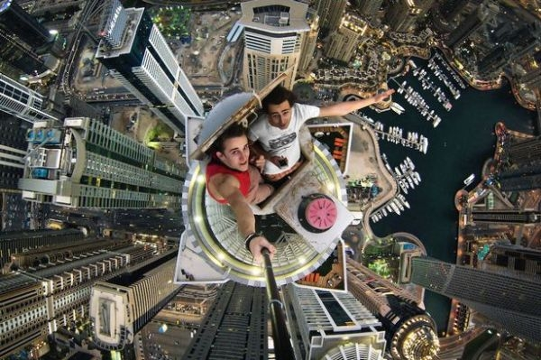 Batch 3- Extreme Selfies Taken By Everyday Individuals- Descending to a Tall Building