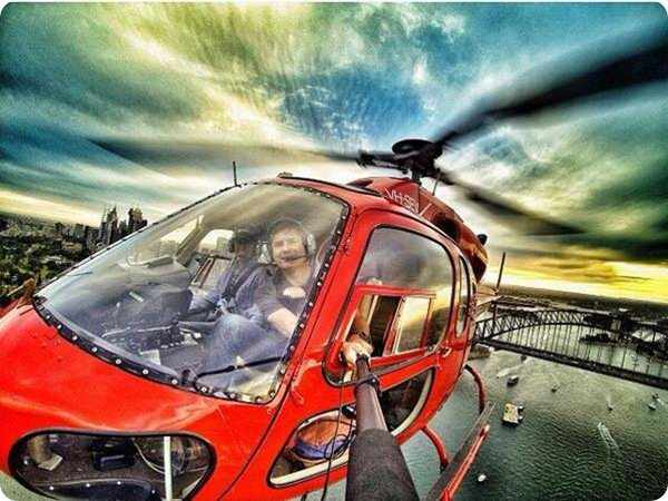 Batch 3- Extreme Selfies Taken By Everyday Individuals- Flying in a Helicopter