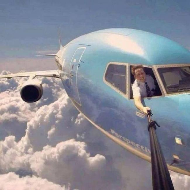 Batch 3- Extreme Selfies Taken By Everyday Individuals- Flying on a Commercial Plane