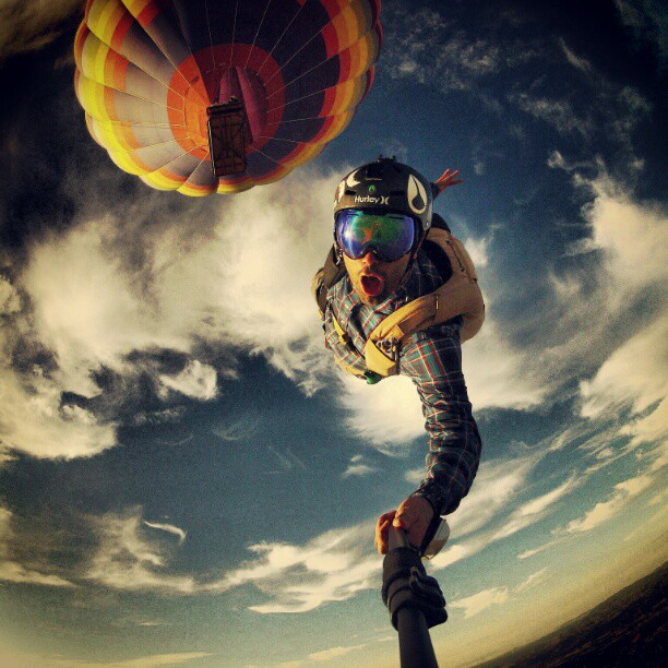 Batch 3- Extreme Selfies Taken By Everyday Individuals- Jumping Off a Hot Air Balloon