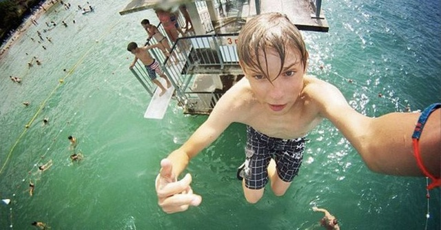Batch 3- Extreme Selfies Taken By Everyday Individuals- Jumping from a Diving Board