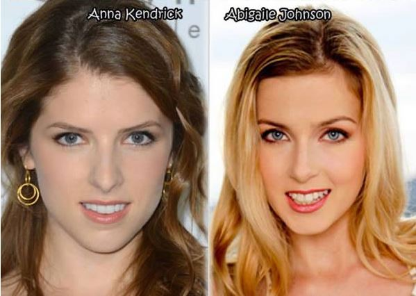 Anna Kendrick and Abigaile Johnson Celebrity Twinnies