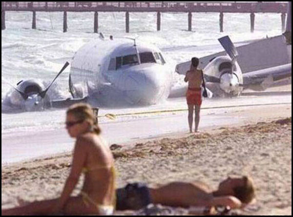 Batch 4- Caught on Camera- 29 Most Embarrassing Moments of this Decade- Beach Crash Landing