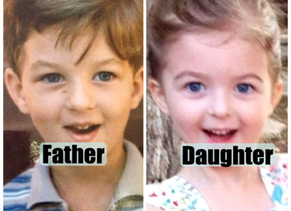 Batch 4- Unbelievable Clones- Kids Who Resemble Their Parents of the Same Age- Daughter Looking Like Her Dad