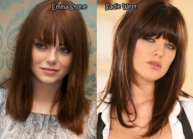 Emma Stone and Sadie West - Celebrity Twinnies
