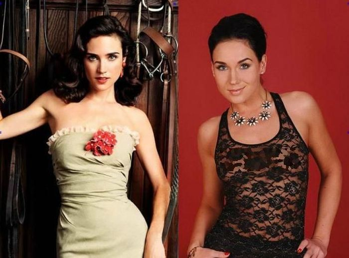 Jennifer Connelly and Kety Pearl - Celebrity Twinnies