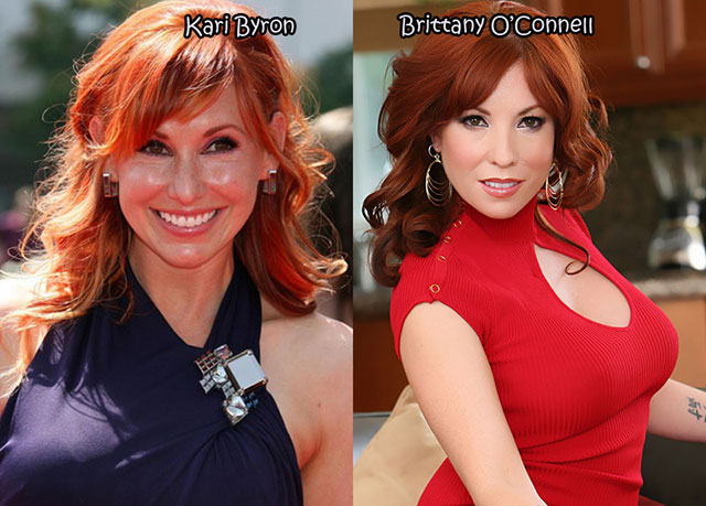 Kari Byron and Brittany O'Connell - Celebrity Twinnies