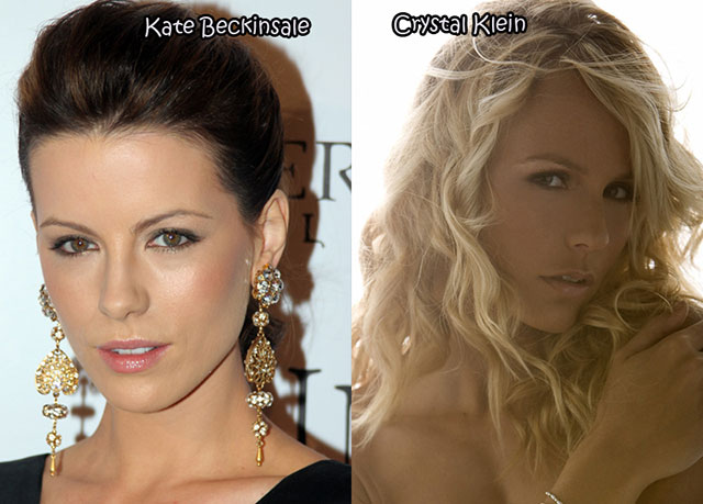 Kate Beckinsale and Crystal Klein - Celebrity Twinnies