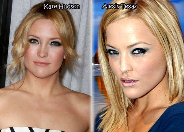 Kate Hudson and Alexis Texas - Celebrity Twinnies