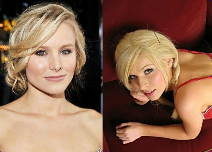 Kristen Bell and Kenzi Marie - Celebrity Twinnies