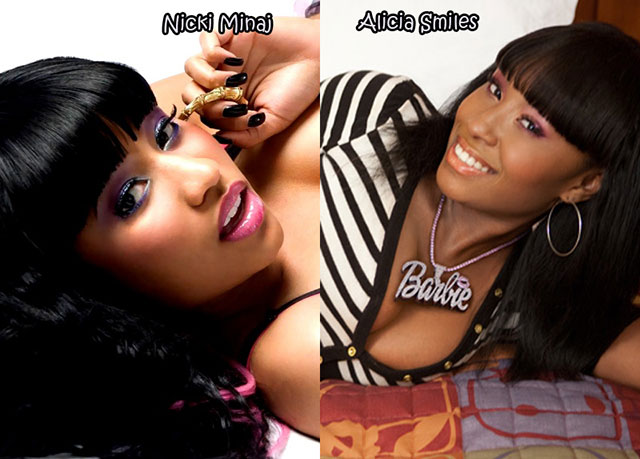 Nicki Minaj and Alicia Smiles - Celebrity Twinnies