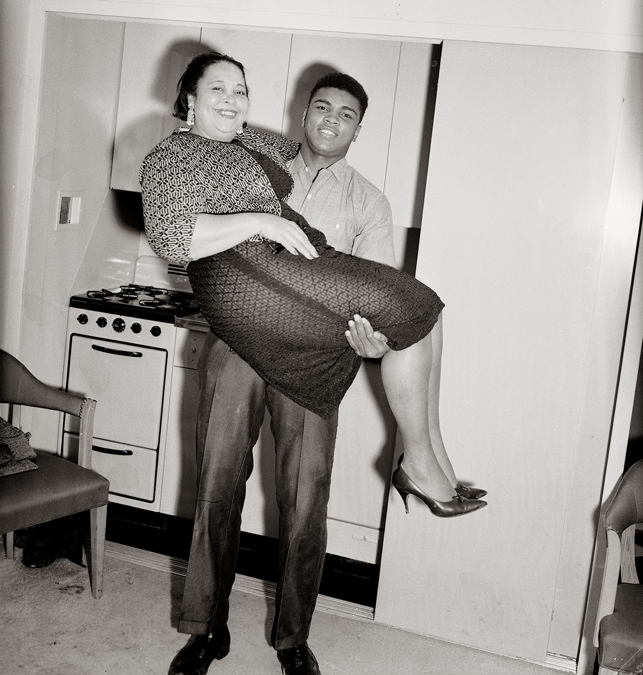 Muhammad Ali and his mom