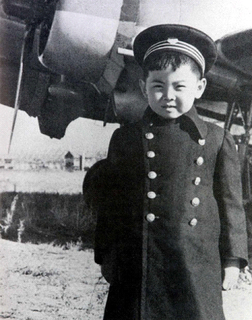 A dapper young Kim Jong Il in his military outfit.