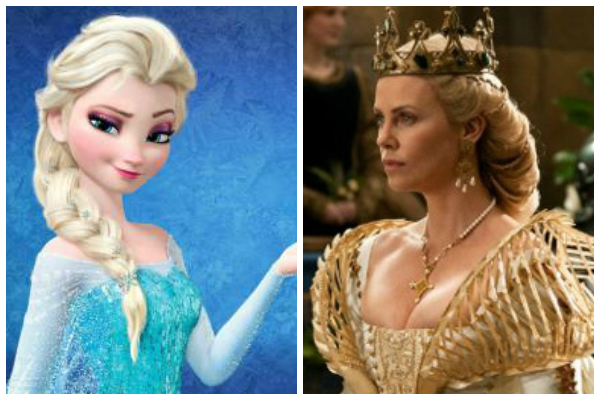 Queen Elsa and Charlize Theron