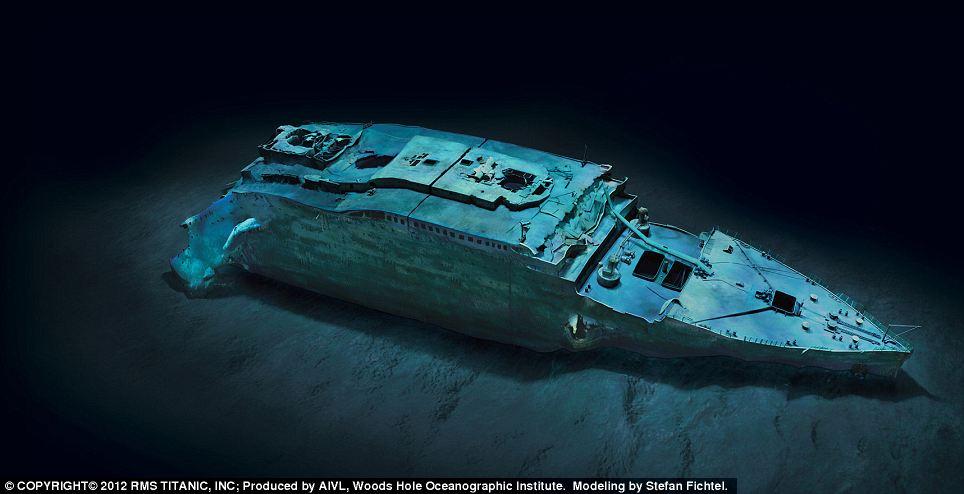 Titanic sunk full view