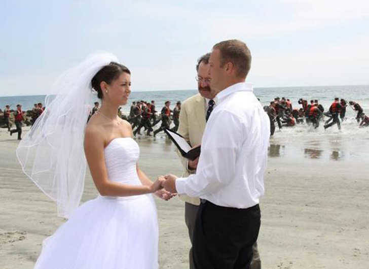 Training Day on the beach during a wedding