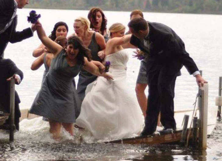 Wedding Photos - Dock Sinking