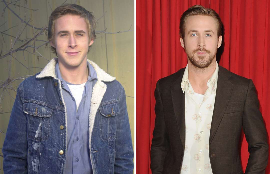 ryan gosling 2001 and 2016