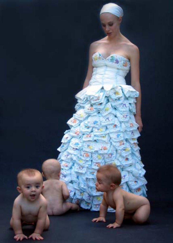 diaper wedding dress
